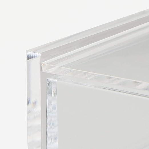 25,5 cm Breite x 17 cm Tiefe x 9,5 cm H/öhe Muji Stapelbare 2-Reihige Schublade Aus Acryl