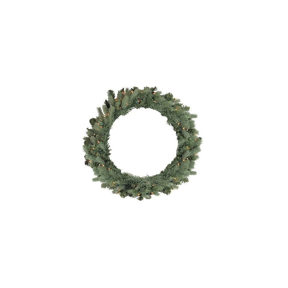 30 Pre Lit Blue Spruce Artificial Christmas Wreath   Clear Lights