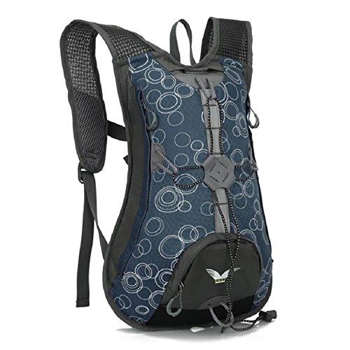 ZC&J Al aire libre hombres y mujeres mochila de montar universal, multi-funcional, de 15 litros de gran capacidad mochila, nylon material práctico resistente al desgaste resistente al desgarro mochila D