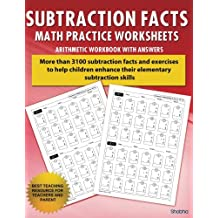 Subtraction Facts Math Practice Worksheet Arithmetic Workbook With Answers: Daily Practice guide for elementary students and other kids