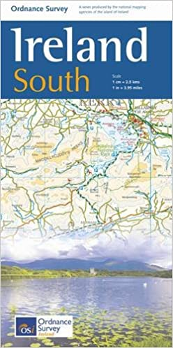 Os Map Of Ireland.The Ireland Holiday Map South 1 250 000 Irish Maps Atlases And