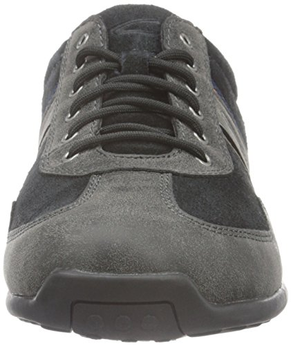 camel active Herren Space 24 Low-Top Grau (Anthracite/Black 04)
