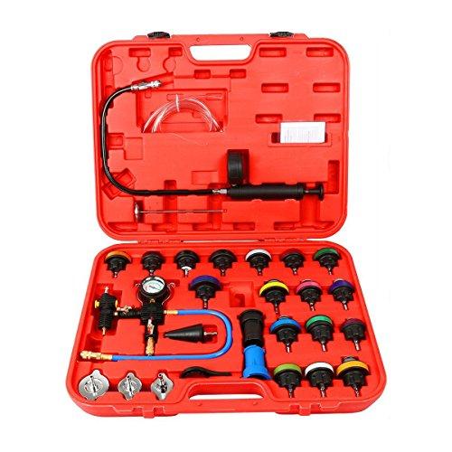 (8MILELAKE 28pcs Universal Radiator Pressure Tester and Vacuum Type Cooling System Kit)