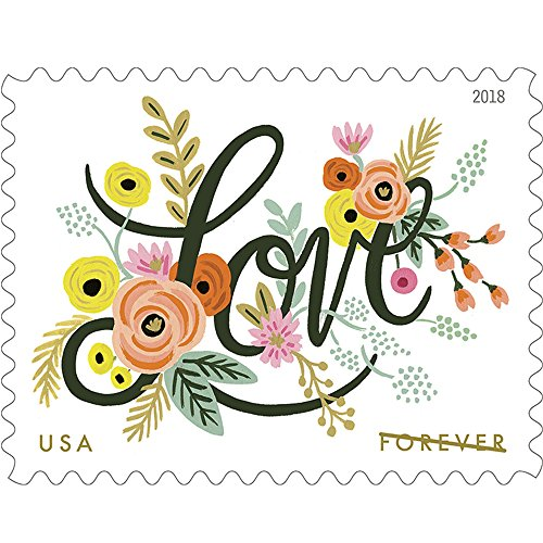 Love Flourishes 10 Sheets of 20 USPS First Class Forever Postage Stamps Wedding Love Valentine 200 Stamps ()