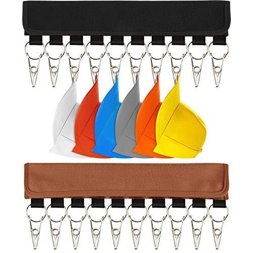TUPARKA 2 Pack Hat Organizer Hat Holder Baseball Hat Storage Organizer for Closet,Black and - Cap Organizer Overdoor