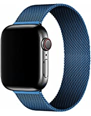 Band For Apple Watch 5 Size 40mm Light Stainless Steel Milanese Loop Band from Smart Stuff - Blue