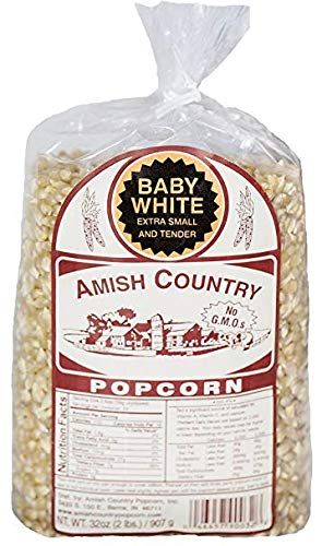 Amish Country Popcorn - Baby White Extra Small and Tender - GMO Free 2 lb Bag