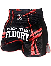 FLUORY Muay Thai Shorts Size:XS S M L XL 2XL 3XL 4XL, Boxing Shorts for Men/Women/Kids with Many Colors