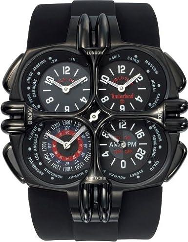 Timberland qt8559101 - Reloj de pulsera de hombre, correa de silicona color negro: Amazon.es: Relojes