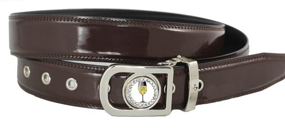 Giggle Golf Women's Ball Marker Belt Large Brown
