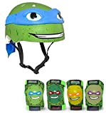 ninja bikes for kids - Teenage Mutant Ninja Turtles Leonardo Kids Bike Helmet and Pads - 5 Piece Set