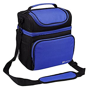 HUKOER Lunch Bag -Insulated Lunch Bag- Lunch Bags for Women With Adjustable Strap Lunch Box Lunch Tote Picnic Bags Insulated Cooler Travel Organizer For Work School Picnic