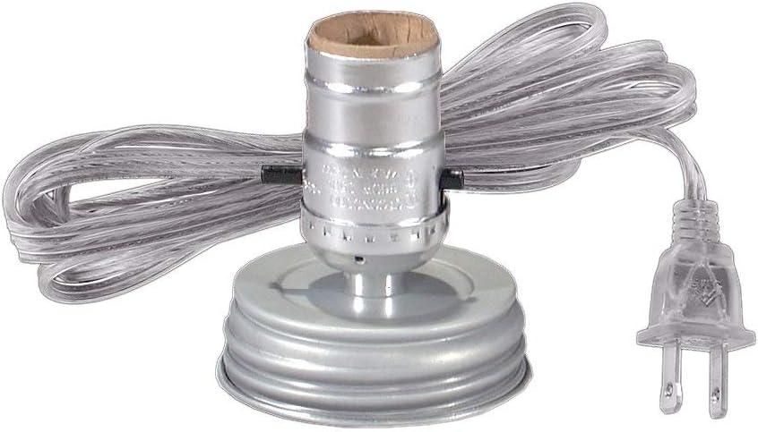 DIY Vintage Style Edison Light Socket for Industrial lighting U.L listed Silver Medium Base E26 Socket EFINEHOME 3 Pack Push Thru On//Off Lamp Socket