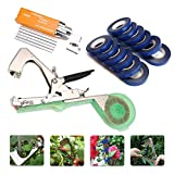 KINGSO Tying Machine for Plant and Garden Plant Tapetool Tapener With 12 Rolls Tape Set for Vegetable, Grape, Tomato,Cucumber, Pepper and Flower