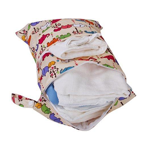 Pemm + 62-Zip lavable bolsa de pañales diseño de elefantes Dog Pattern Talla:36*30cm Elephant Pattern