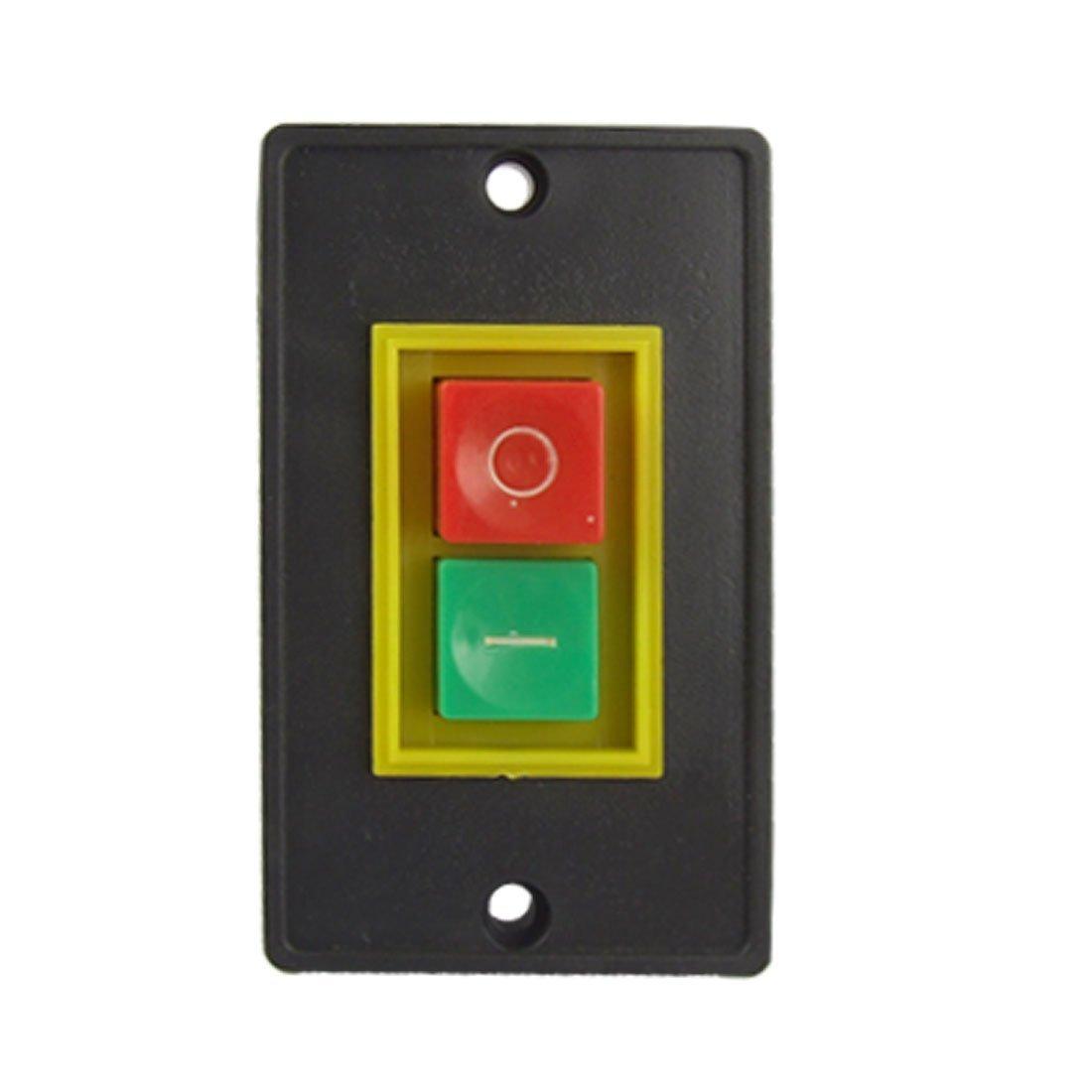 QCSon off start stop montaje empotrado botón pulsador Interruptor KW para Herramienta