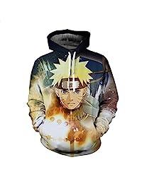 Jandz] Naruto Hoodie Unisex: Thunder, 3D Print Otaku, Cosplay, Manga, Anime Design