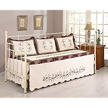 Image of Home and Kitchen MODERN HEIRLOOM COLLECTION, BROOKE DAYBED COVER SET - 4 PC