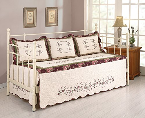 MODERN HEIRLOOM COLLECTION, BROOKE DAYBED COVER SET - 4 PC