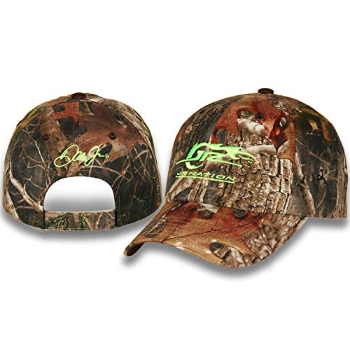 - Dale Jr, Jr Nation True Timber Kanati Camo Low Profile Unstructured Hat with Velcro Closure