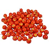 Colorfulife Artificial Lifelike Mini Apple, Fake Fruit Model Party Home Decoration Teaching Props Photo Child Education Fruits House Kitchen Decorative (100, Red)