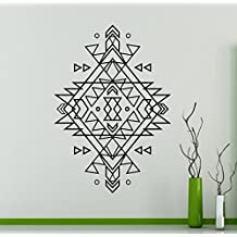 Abstract Patterns Wall Decal Beautiful Ornaments Vinyl Sticker Geometric Shapes Home Interior Living Room Decor Door Stickers Window Decals Housewares Design Custom Decals 1(abs)