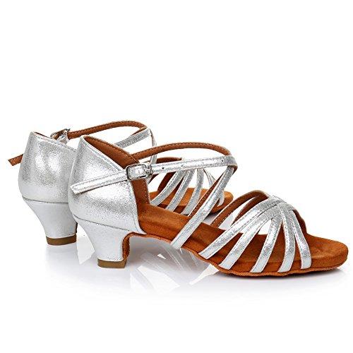 Whxgg Model Latin Argent Femme Chaussures Danse 1 Swdzm Standard De qB0fxCw