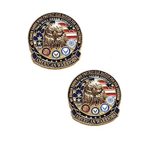- Set Of 2 Deluxe American Warriors Never Forget Honor Freedom Lapel Hat Pin Marines Army Navy Air Force 7520