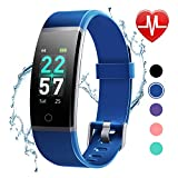 LETSCOM Fitness Tracker with Heart Rate Monitor, Color Screen Activity...