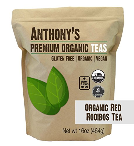Organic Red Rooibos Loose Leaf Tea (16oz) by Anthony's, Gluten-Free (1 - Rooibos Tea Red