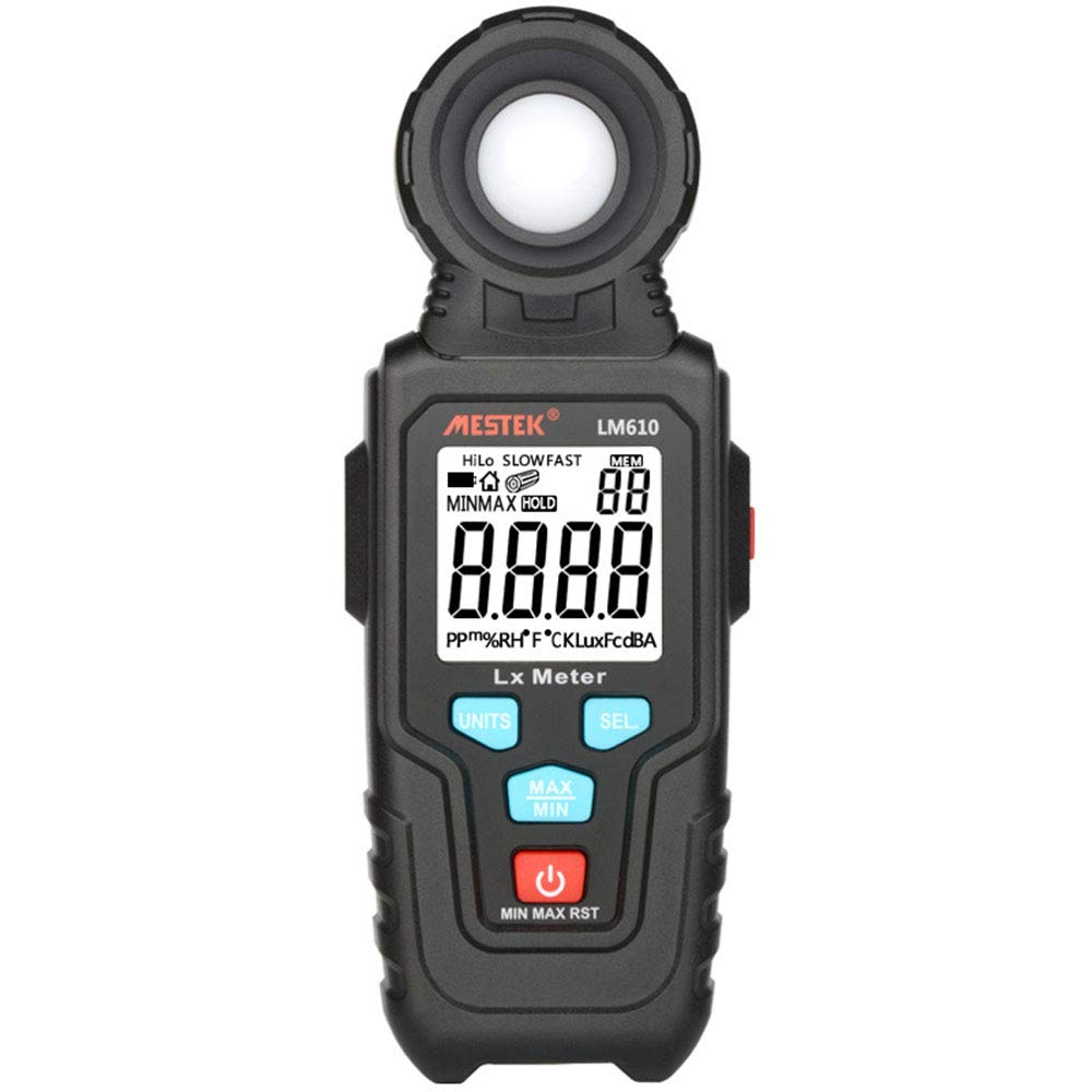 Light Meter Light Meters Digital Illuminance Meter Handheld Ambient Temperature Measurer with Range Up to 100Klux Luxmeter with 3 Digit LCD Screen by Lee Lam