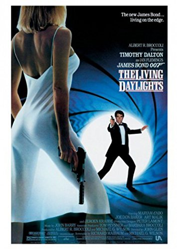 1art1 James Bond 007 Postcard - The Living Daylights (6 x 4 inches)