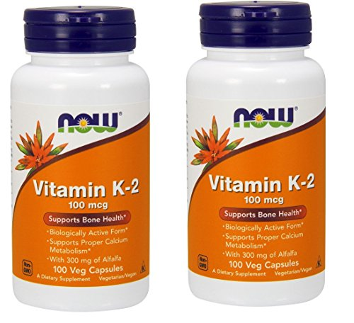 Now Foods Vitamin K-2 100 mcg - 100 Vcaps ( Multi-Pack)