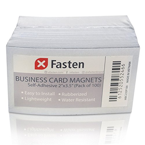 Strong Index (XFasten Self Adhesive Business Card Magnets, Pack of 100)