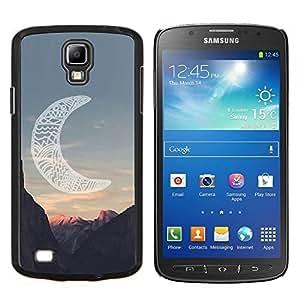 TECHCASE---Cubierta de la caja de protección para la piel dura ** Samsung Galaxy S4 Active i9295 ** --luna cañón indio americano nativo