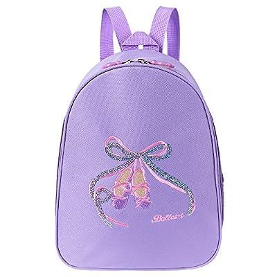 eac6c4e308 BAOHULU Little Girls Dance Shoulder Bag -- Sequined bowknot Toe Shoes  Dancing School Ballet Gym