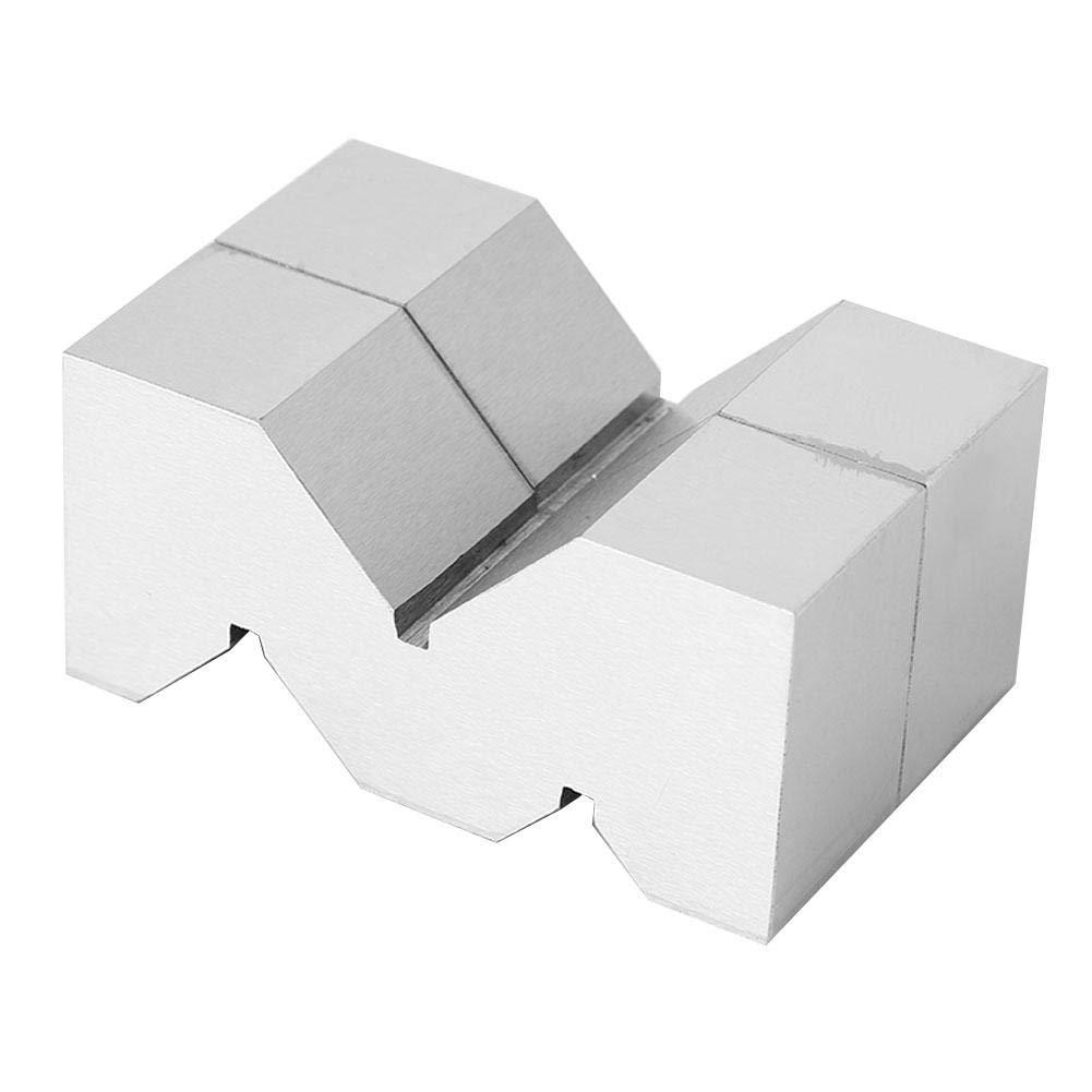 Famus Carbon Steel V-Block Pratical Durable 75mm M Type V-Block for Platform Measurement for Inspection Lining Positioning of Accuracy Shaft Parts