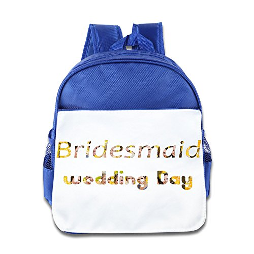 Bride Bridesmaid And Maid Of Honor Backpack Children School Bag RoyalBlue