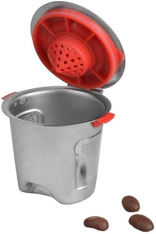 Cápsula reutilizable de acero inoxidable para cafetera Nespresso: Amazon.es: Hogar