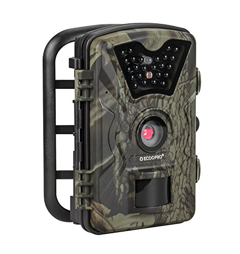 ECOOPRO Trail Camera 12MP 1080P HD Game Hunting Camera with 65ft Infrared Night Vision90Detection Angle24pcs 940nm IR LEDs2.4 LCD Screen&Waterproof IP66 Wildlife Hunting CamUpgraded