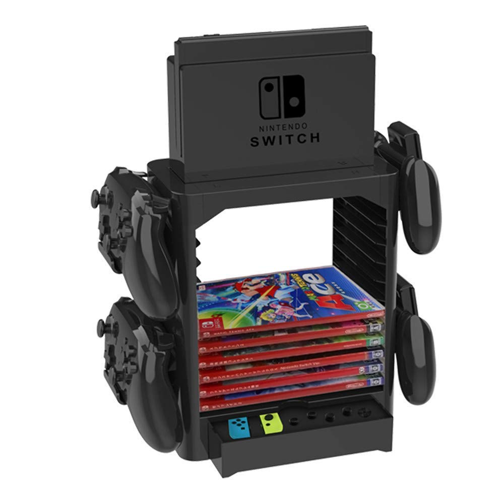 Skywin Game Storage Tower for Nintendo Switch - Stackable Game Disk Rack and Controller Organizer Compatible with Nintendo Switch and Accessories by Skywin