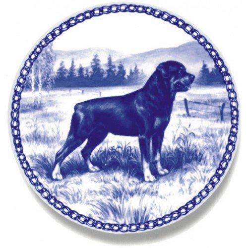Skan Lekven Rottweiler: Danish Blue Porcelain Plate #7195