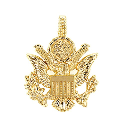 10k Gold Eagle Seal Pendant - United States Great Seal in 10k Yellow Gold Pendant