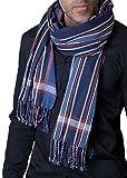 Men's George Modern Multicolor Stripe Scarf (Blue)