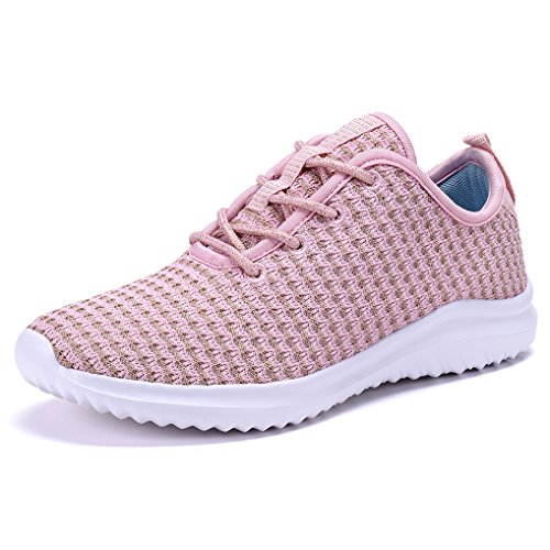 COODO CD8011 Women Lightweight Athletic Shoes Fashion Running Sneakers Pink-8
