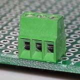 "Electronics-Salon 10 PCS 3 Poles 2.54mm/0.1"" PCB Universal Screw Terminal Block"