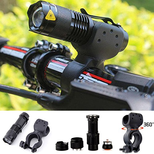 Cheap Shalleen 1200lm Cree Q5 LED Cycling Bike Bicycle Head Front Light Flashlight w/ 360 Mount