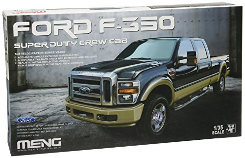 Ford Tailgate Pickup F350 (MENG 1/35 Ford F-350 Super Duty Crew Cab Model Kit)