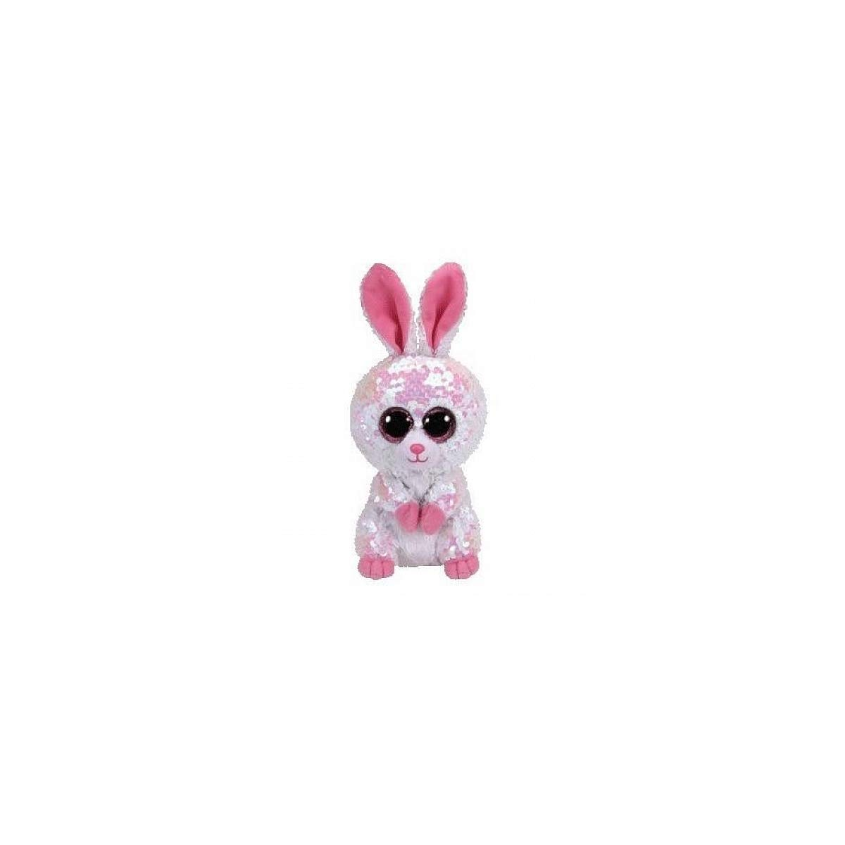 Ty- Flippables Small-Peluche Sequins Bonnie Le Lapin 15cm, TY36678, Multicolore