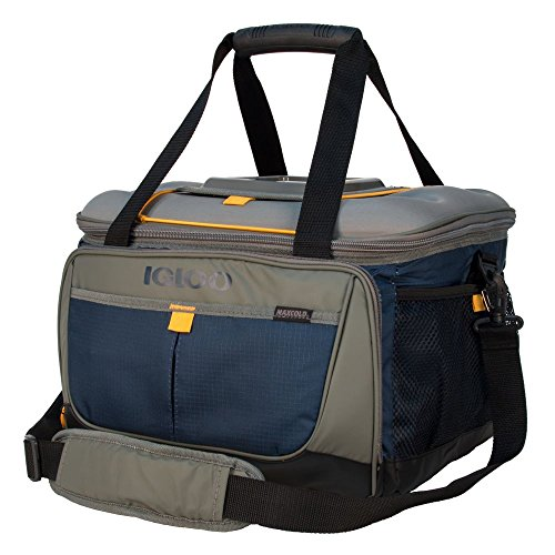 Cooler Duffle - Igloo Outdoorsman Collapsible 50-Slate Blue/Tan, Blue